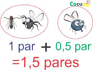 cuantas moscas son tres pares