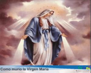 muerte virgen maria