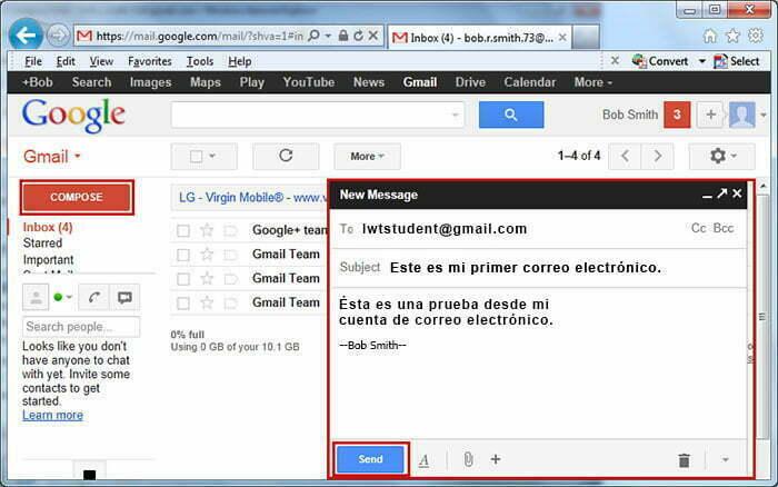 enviar correo electronico gmail
