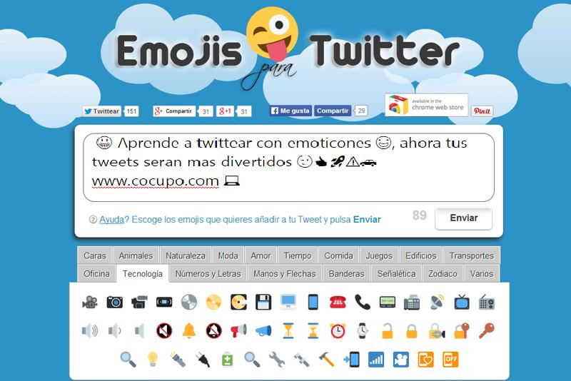 emoticones para twitter