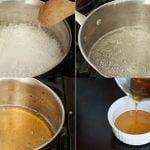Receta Casera para la Depilación con Cera Ingredientes 2 tazas de Azúcar 1/4 de taza de Agua 1/4 de taza de Jugo de Llimón Tiras de tela de algodón Cuchillo para mantequilla Termómetro de carne (opcional) Instrucciones Mezcle la azúcar, el jugo de limón, y el agua en una cacerola. Coloque la cacerola en la estufa a fuego lento. Revuelva la mezcla hasta que el azúcar se haya derretido y la mezcla se vuelva espesa y marrón. Esto debe tomar unos 10 minutos. Retire la cacerola del fuego y permita que la mezcla se enfríe un poco. Coloque una gota de la mezcla de la yema del dedo con un cuchillo de mantequilla para probar la temperatura. La mezcla debe estar caliente pero no hirviendo. Como alternativa, moje la punta de un termómetro de carne en la mezcla para medir la temperatura. La mezcla debe estar entre los 115 y 130 grados F. Sumerja el cuchillo de la mantequilla en la mezcla y extienda una capa de aproximadamente a 1/4 de pulgada de ancho en el área dónde desea depilarse. Extienda la mezcla en dirección del crecimiento del pelo, no contra él. Presione una tira de tela de algodón en la piel con cera, y tire de la tela rápidamente contra la dirreción del crecimiento del vello Leer más: http://www.expertosdebelleza.com/cuidado-corporal/12-receta-casera-para-la-depilacion-con-cera#ixzz4Na3pUovO