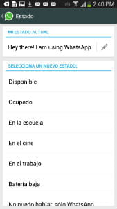 Estado whatsapp