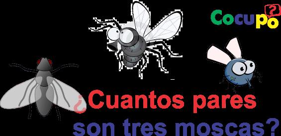 cuantos pares son tres moscas