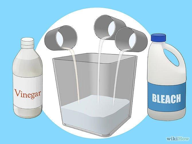 Mezcla quimica,- lejia