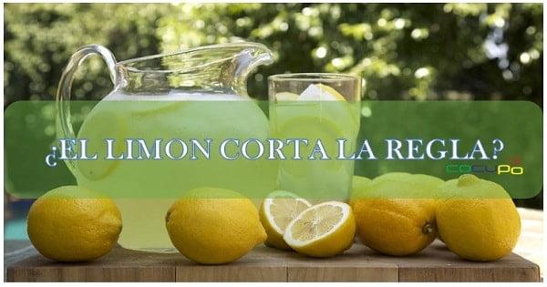 Consecuencias limón menstruación