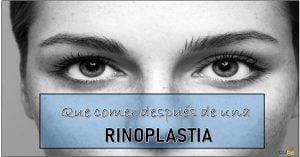 Cuidados despues de una Rinoplastia